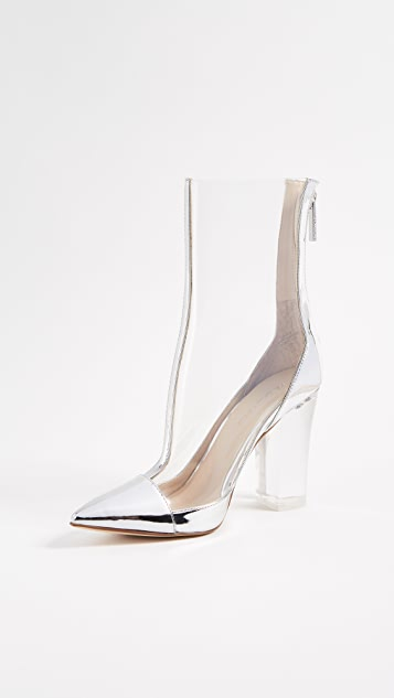 KENDALL + KYLIE Haven Clear Booties - Clear/Silver