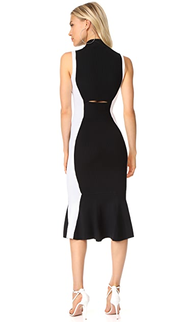 KENDALL + KYLIE Illusion Peplum Dress