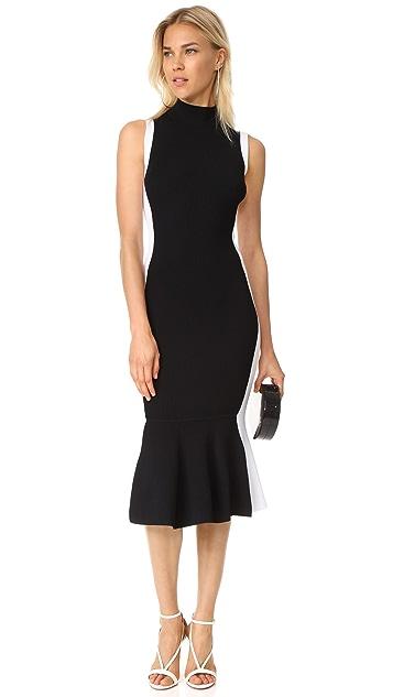 KENDALL + KYLIE Illusion Peplum Dress