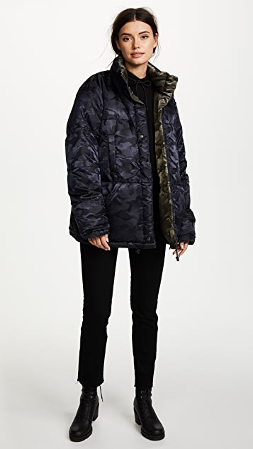 KENDALL + KYLIE Reversible Puffer Coat