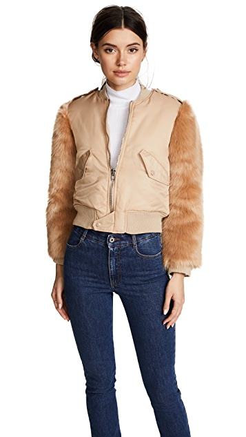 KENDALL + KYLIE Faux Fur Bomber Jacket