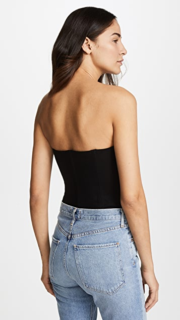 KENDALL + KYLIE Bustier Thong Bodysuit