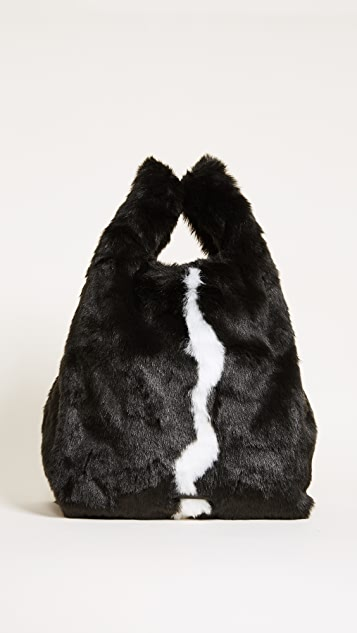 KENDALL + KYLIE Michelle Faux Fur Shopping Bag