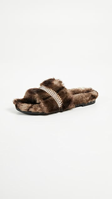 KENDALL + KYLIE Shade Slides - Brown/Platino