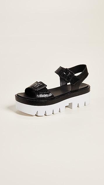 KENDALL + KYLIE Wave Platform Sandals - Black