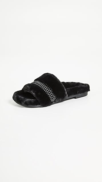 KENDALL + KYLIE Shade Slides - Black/Nickel