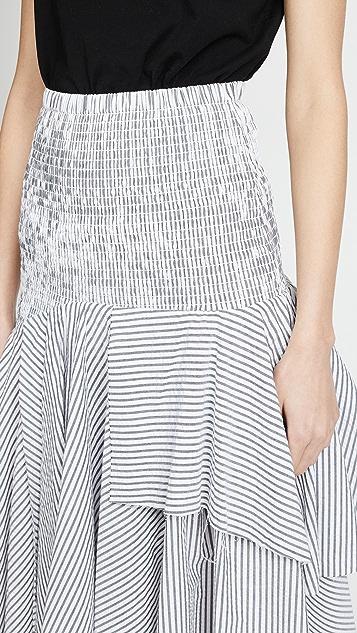 KENDALL + KYLIE Seersucker Convertible Ruched Skirt