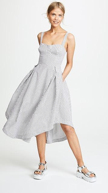 KENDALL + KYLIE Seersucker Bustier Dress