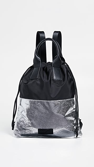 KENDALL + KYLIE Layla Backpack - Silver/Black