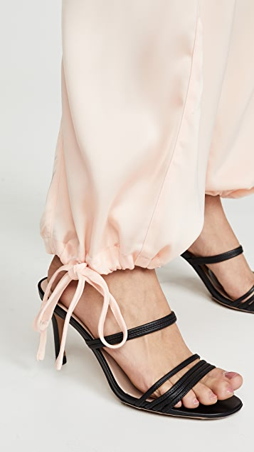 KENDALL+KYLIE Атласные брюки-карго