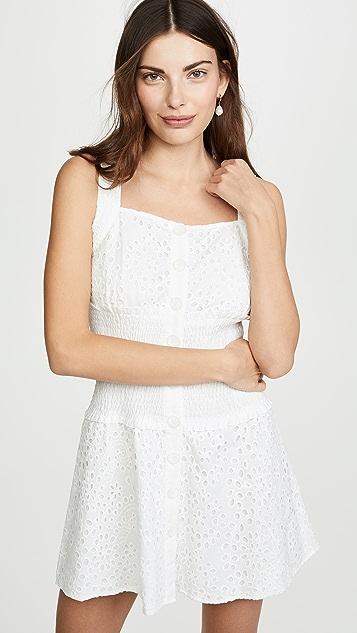 KENDALL+KYLIE Платье Broderie Anglaise с прорезями
