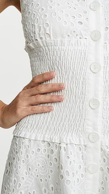KENDALL + KYLIE 英格兰刺绣圆孔连衣裙