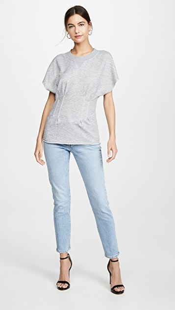 KENDALL + KYLIE Boning Short Sleeve Sweatshirt