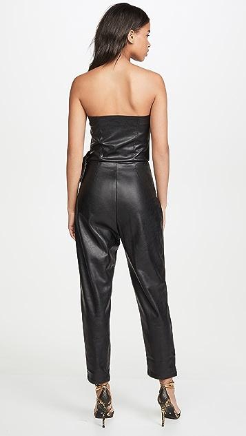 KENDALL + KYLIE Bianca Vegan Leather Jumpsuit