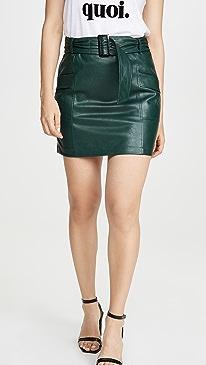 Charlie Vegan Leather Skirt