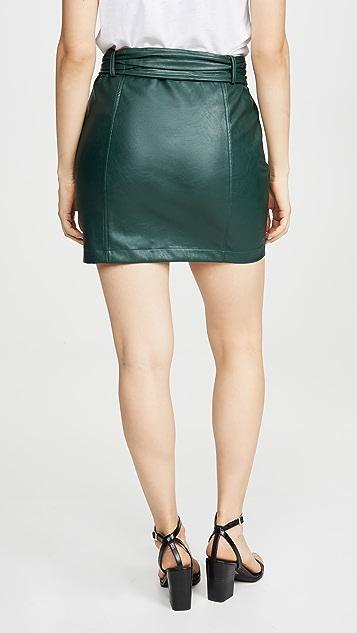 KENDALL + KYLIE Charlie Vegan Leather Skirt