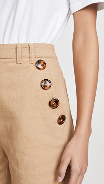 KENDALL + KYLIE Button Embellished Shorts