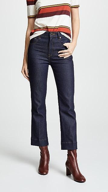 Khaite Fiona Cropped Flare Jeans