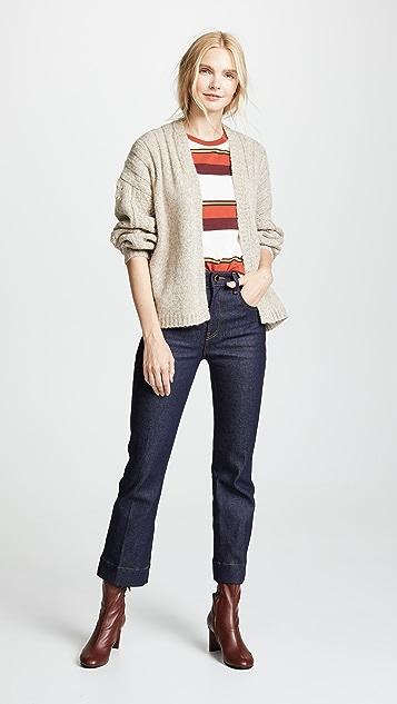 Khaite Укороченные расклешенные джинсы Fiona