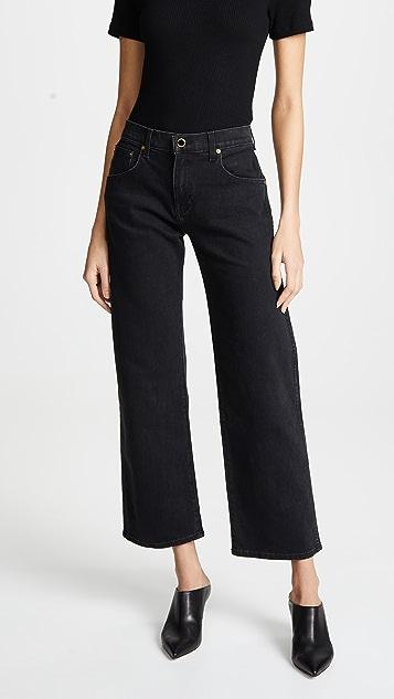 Khaite Укороченные широкие джинсы Wendell