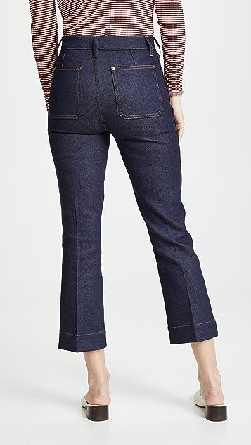 Khaite Raquel Patch Pocket Crop Jeans