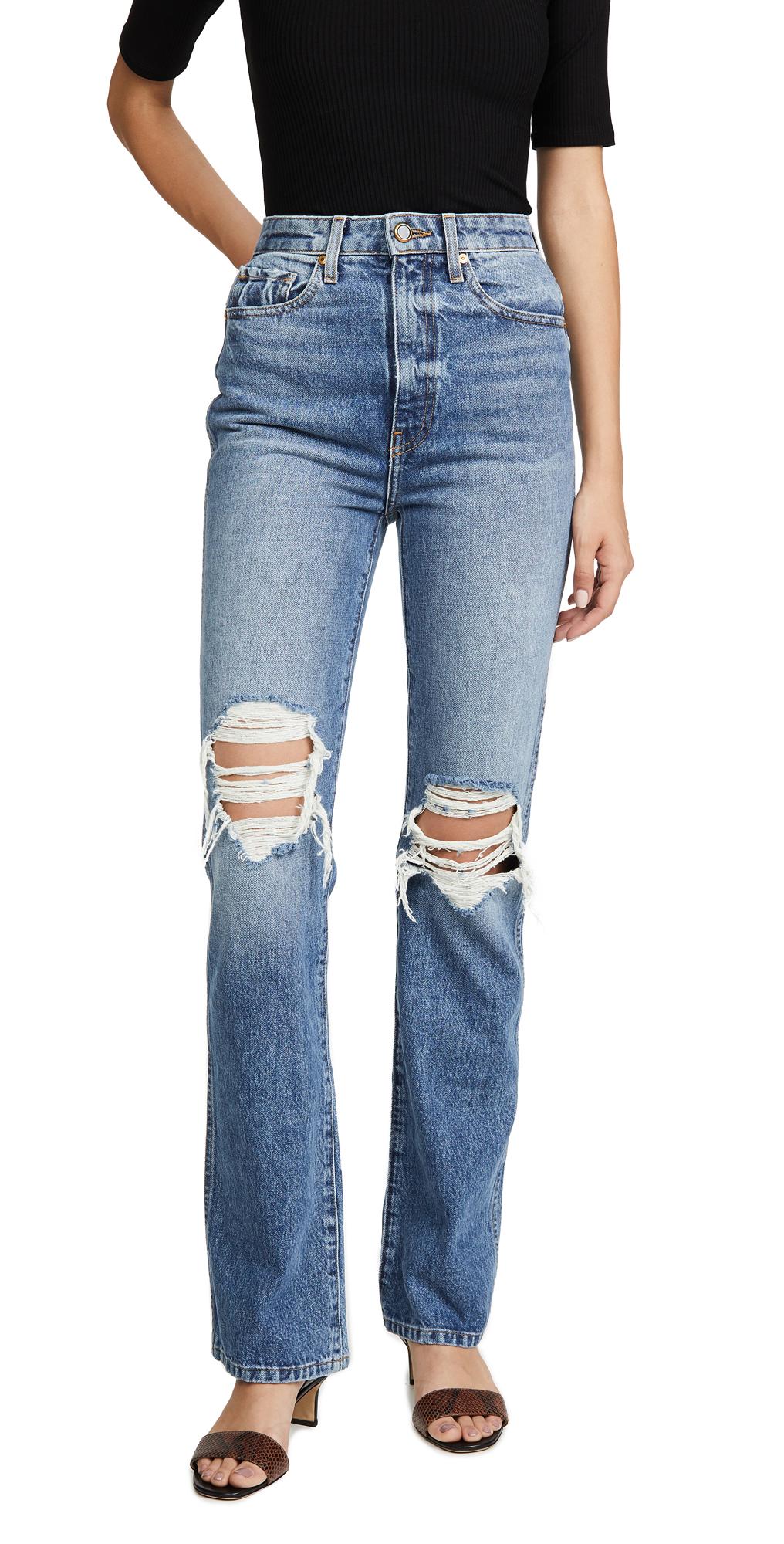 Khaite Danielle High Rise Stovepipe Jeans