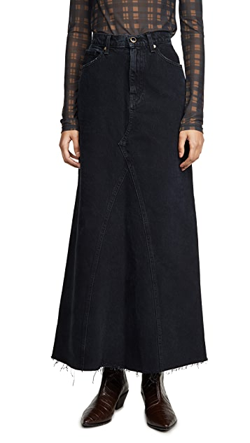 Khaite Magdalena Reconstructed Long Skirt