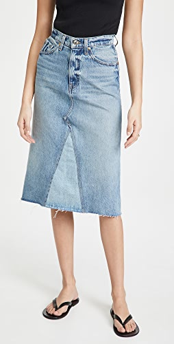 Khaite - Maggie 牛仔布半身裙