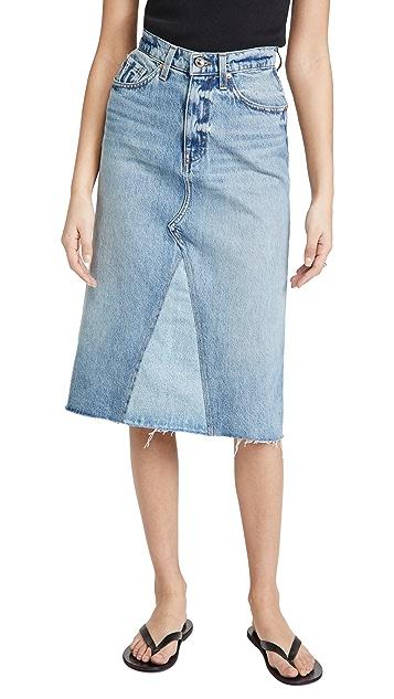 Khaite Maggie 牛仔布半身裙