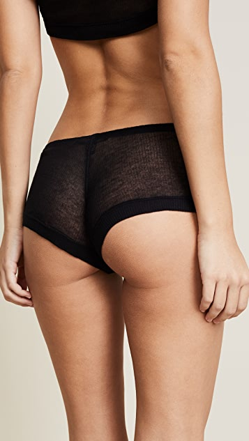 Kiki De Montparnasse Ribbed Jersey Boy Short Panties