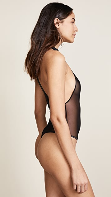 Kiki De Montparnasse High Neck Thong Bodysuit