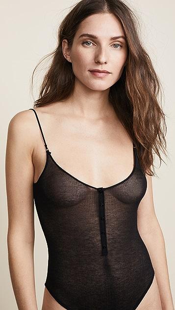 Kiki De Montparnasse Ribbed Jersey Bodysuit