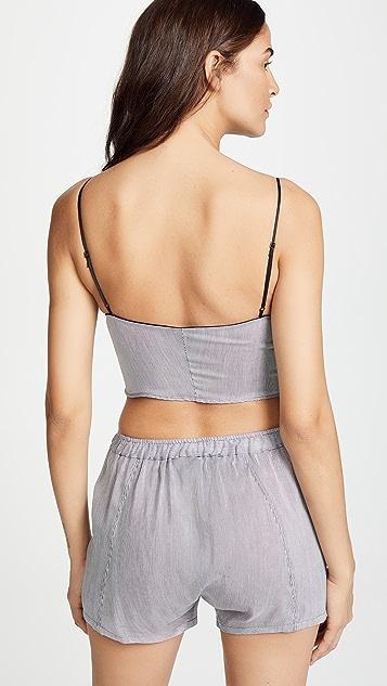 Kiki De Montparnasse Cotton Stripe Bralette