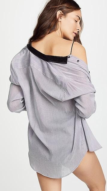 Kiki De Montparnasse Cotton Stripe Boyfriend Pajama Shirt