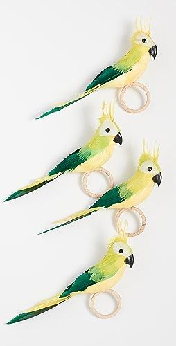 Kim Seybert - Parakeet Napkin Ring (Set of 4)