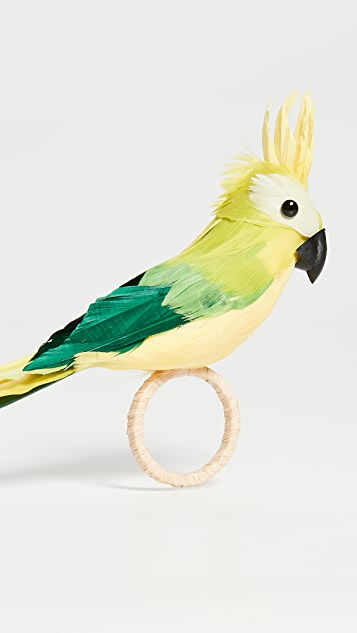 Kim Seybert Parakeet Napkin Ring (Set of 4)