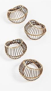 Kim Seybert Cage Napkin Ring (Set of 4)