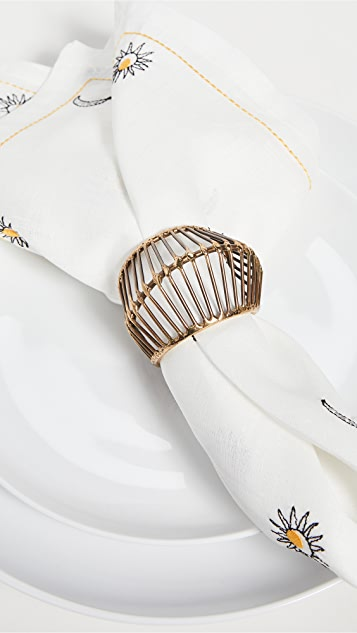 Kim Seybert Cage 餐巾环(4 件装)