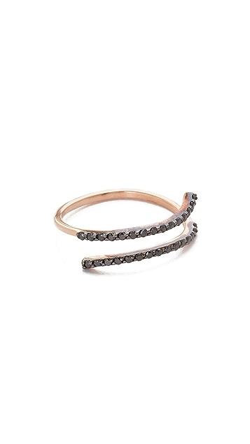 Kismet by Milka 2 Row Pinky Ring