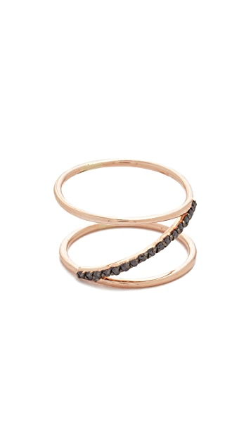 Kismet by Milka 14k Rose Gold Spectrum Ring