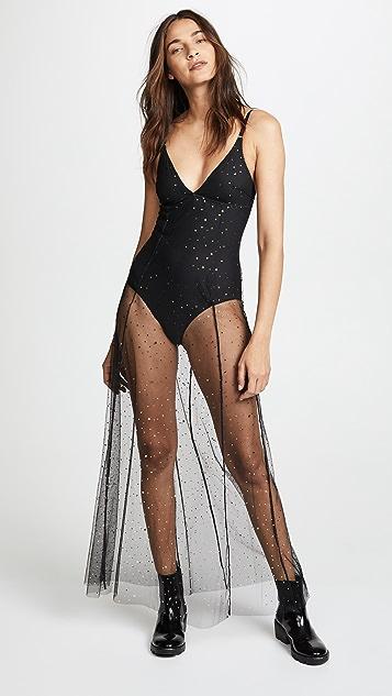 KISSKILL Tulle Star Bodysuit