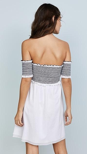 kisuii Aya Smocked Tunic Cover Up Dress