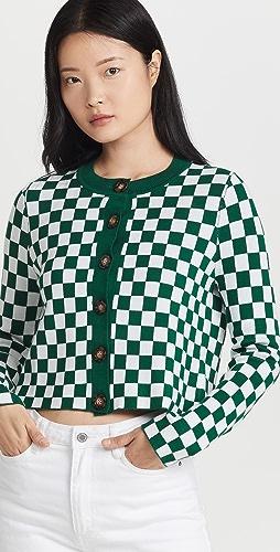 KITRI - Talulla Checker Knitted Cardigan