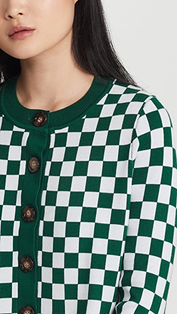KITRI Talulla Checker Knitted Cardigan