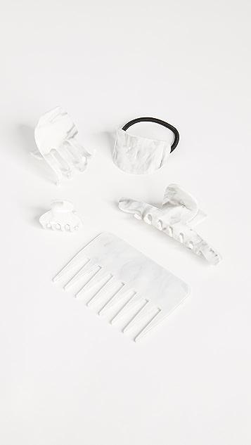 Kitsch Hair Clip & Comb Set