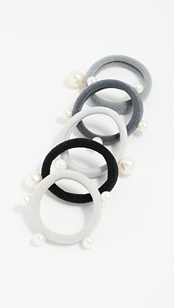 Kitsch Imitation Pearl Pony Hair Ties pk0co2NOV