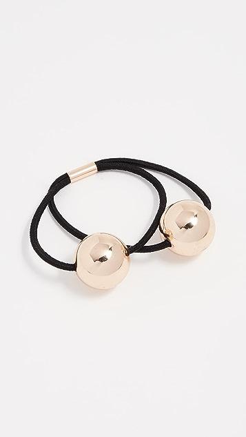 Kitsch Metal Double Bead Hair Tie Set