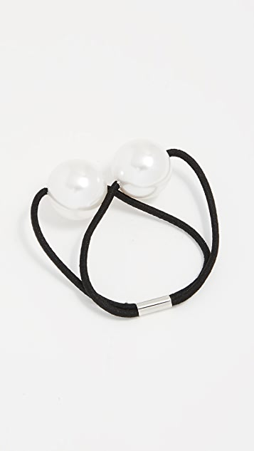 Kitsch Imitation Pearl Hair Tie Set