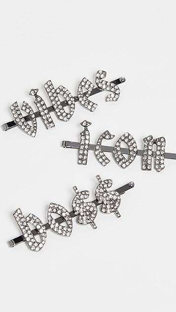 Kitsch Заколка для волос в готическом стиле со стразами x Justine Marjan Icon