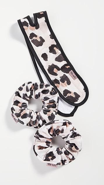 Kitsch 豹纹发带和头带套装